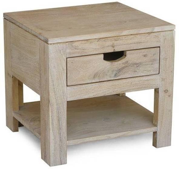 NATURE WHITE nočný stolík #91 lakovaný agátový nábytok