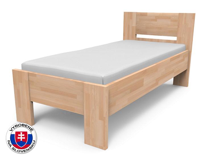 Jednolôžková posteľ 210x90 cm Nikoleta plné čelo (masív)