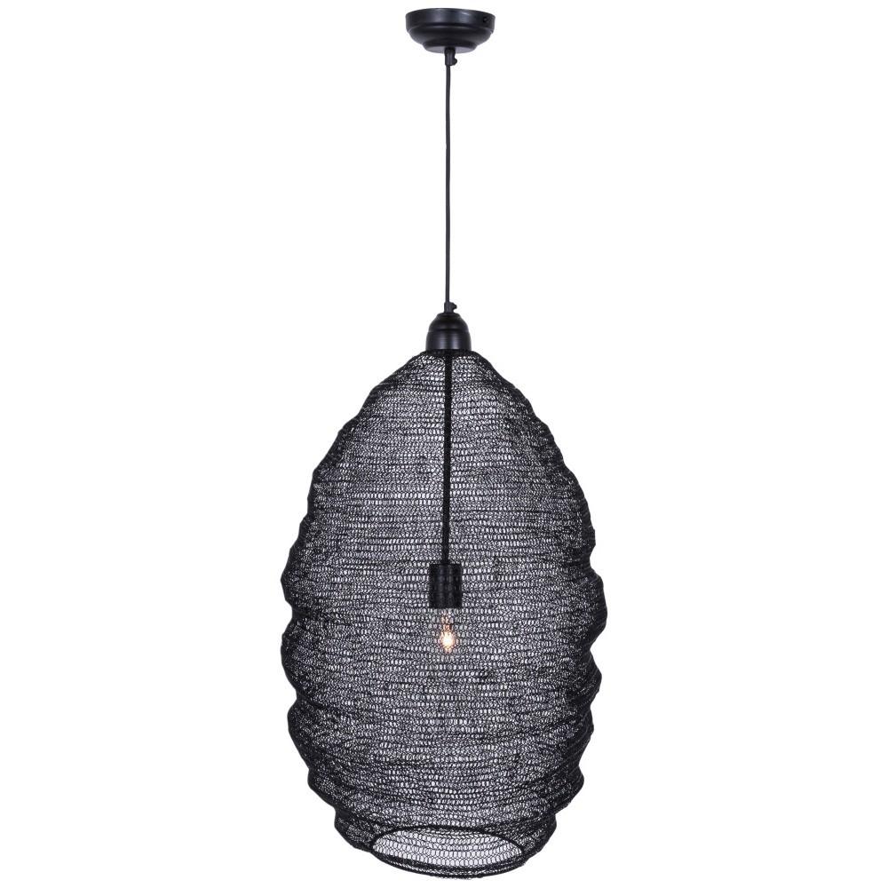 Ručne vyrobené závesné svietidlo Canett Oscar, ⌀ 42 cm