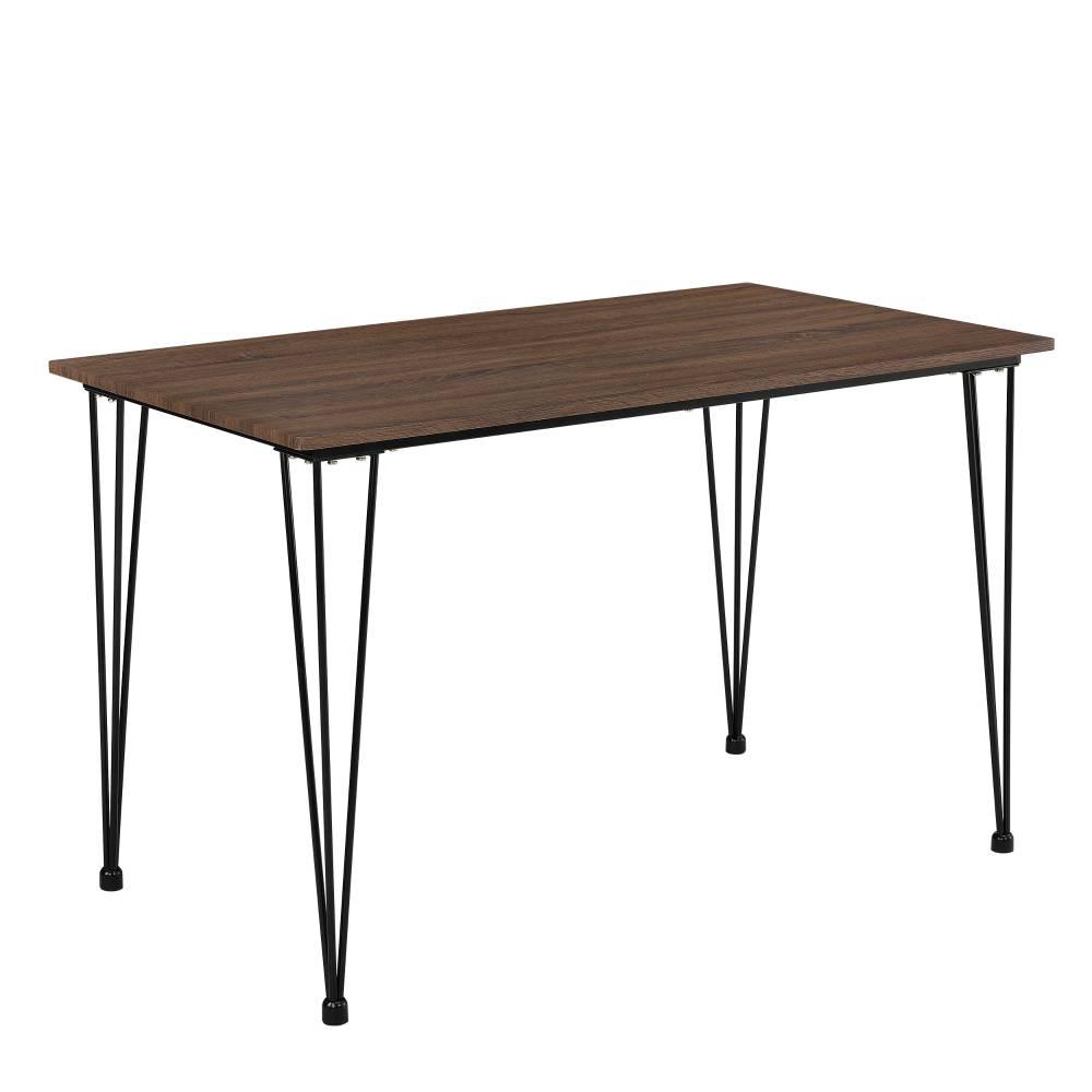 [en.casa]® Elegantný dizajnový jedálenský stôl - 4-miestny - 120x70 cm
