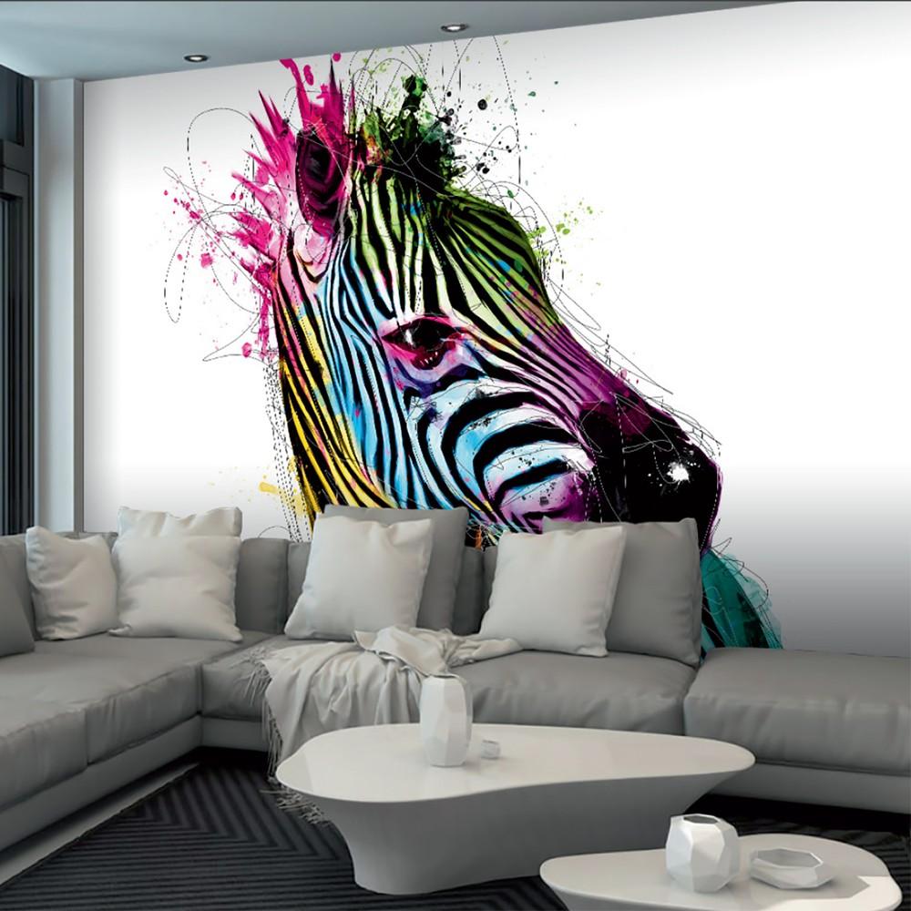Veľkoformátová tapeta Farebná zebra, 360x253cm