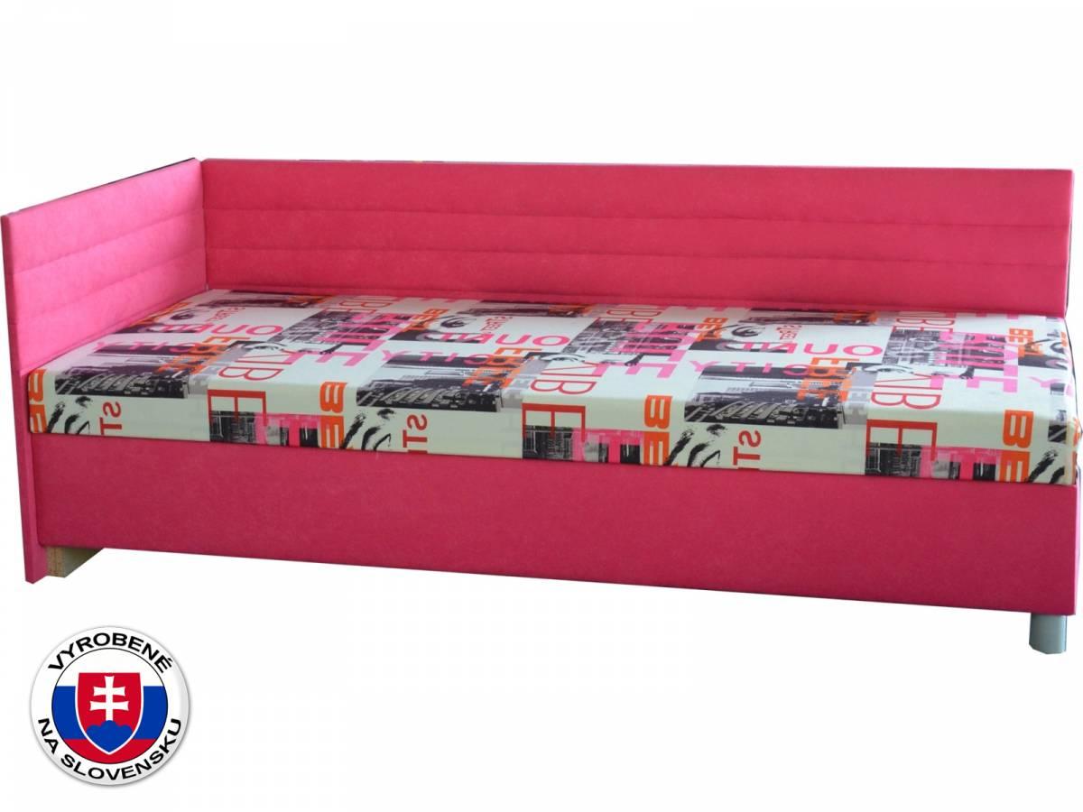 Jednolôžková posteľ (váľanda) 90 cm Etile 2 (so 7-zónovým matracom lux) (L)