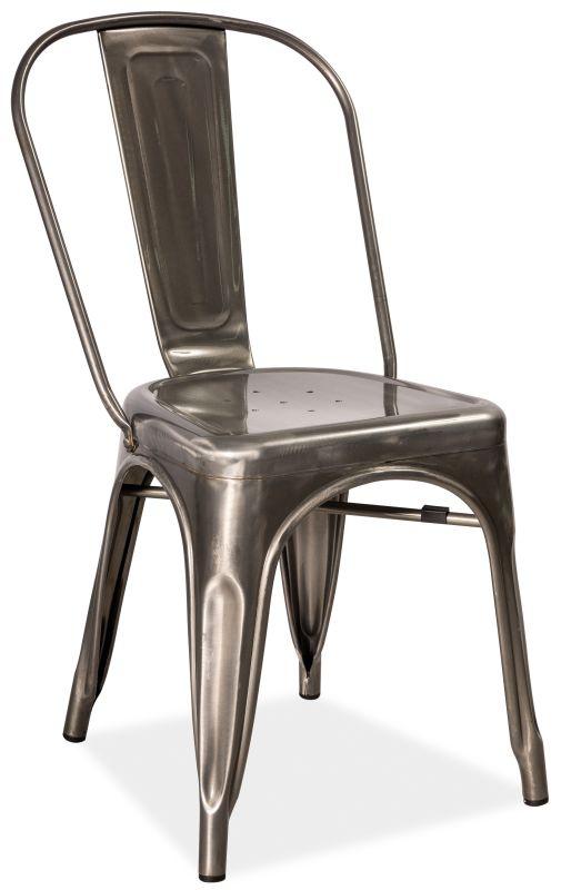 SIGNAL LOFT jedálenská stolička - brúsená oceľ