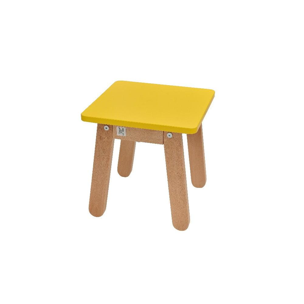 Žltá detská stolička BELLAMY Woody