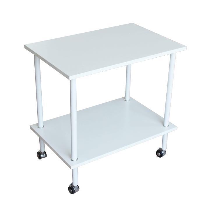 TEMPO KONDELA Príručný stolík, matná biela, LABON