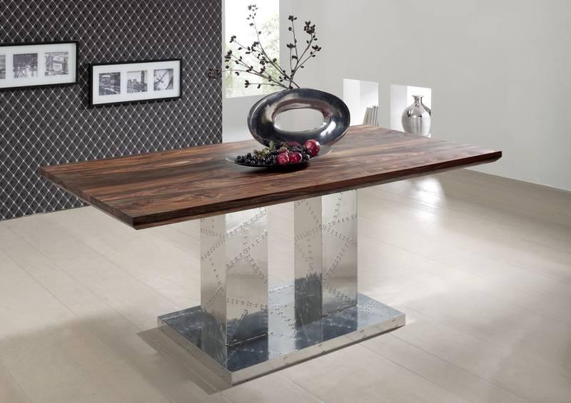 Masiv24 - PLAIN SHEESHAM jedálenský stôl 200x100 olejovaný indický palisander, sivá
