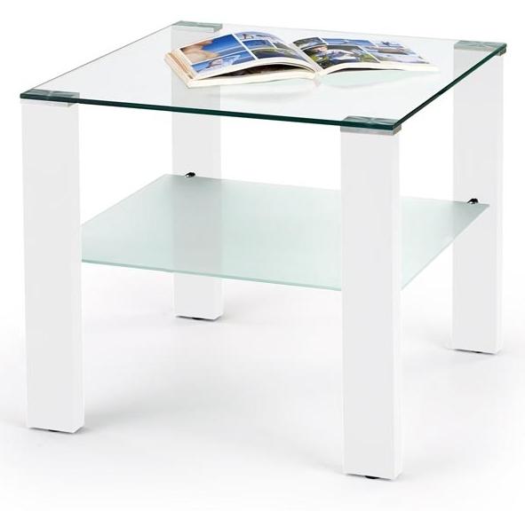 Konferenčný stolík Simple H kwadrat biely