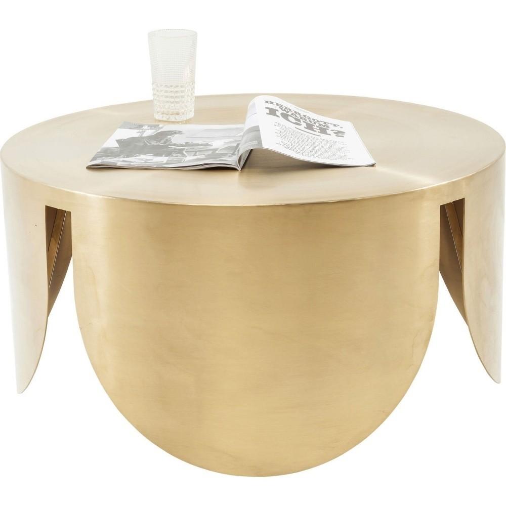 Odkladací stolík v zlatej farbe Kare Design New Wave, ⌀80cm