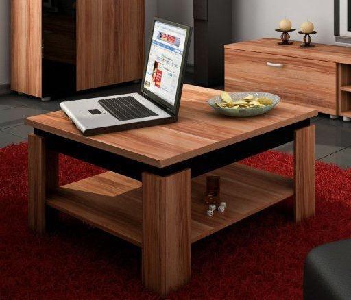 Konferenčný stolík Alfa (Slivka + Lesk čierny)