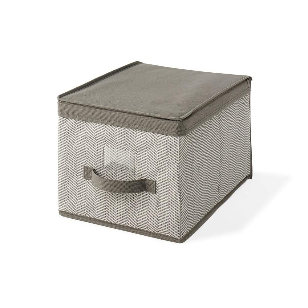 Hnedý uložný box s vrchnákom Cosatto Twill, 25 x 40 cm