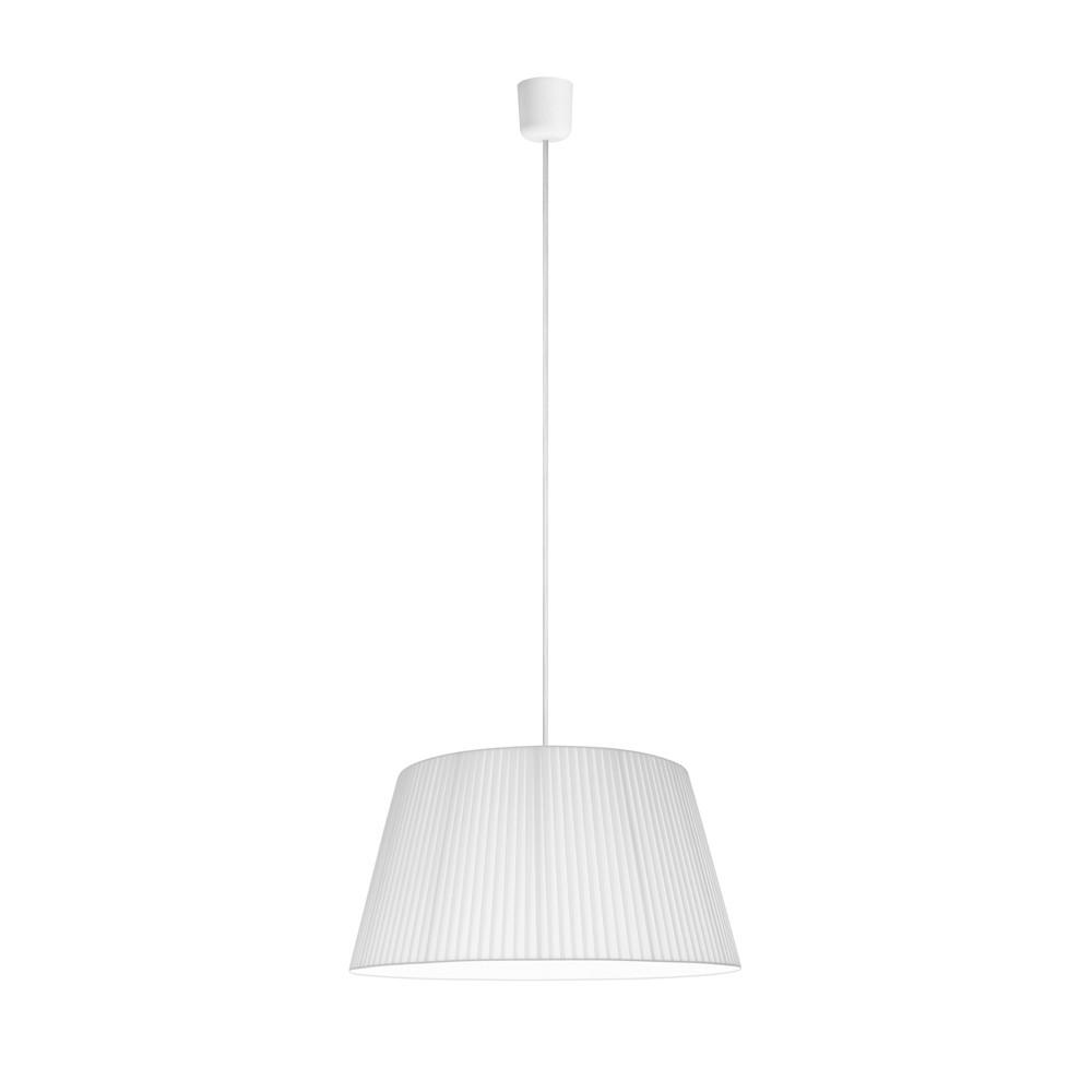 Biele závesné svietidlo Sotto Luce Kami, Ø 45 cm