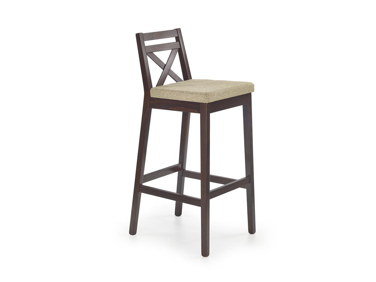 Barová stolička Borys (orech tmavý + béžová)