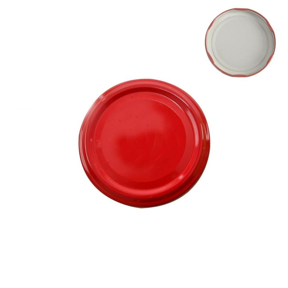 Skrutkovacie viečko na zaváracie poháre KOV 53, červená, 10 ks