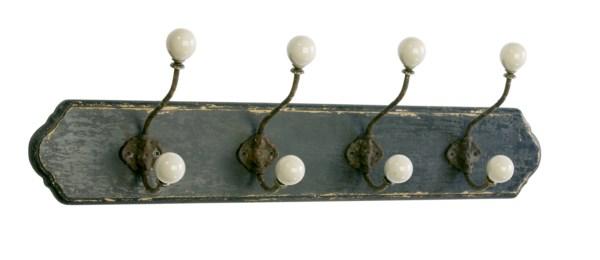 Nástenný vešiak CORDON - antická čierna