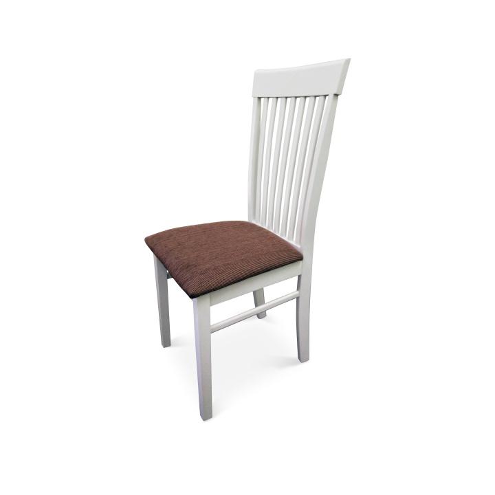 TEMPO KONDELA ASTRO jedálenská stolička - biela / hnedá
