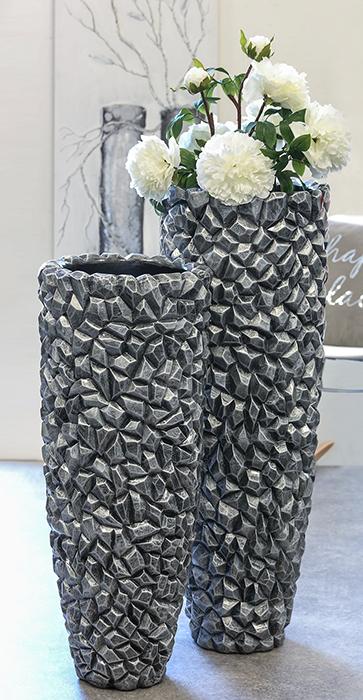 Bighome - Váza GRAVI 105 cm - sivá