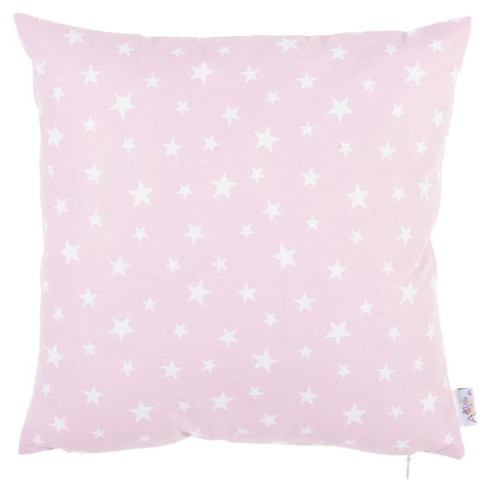 Ružová bavlnená obliečka na vankúš Apolena Mirro, 35 x 35 cm