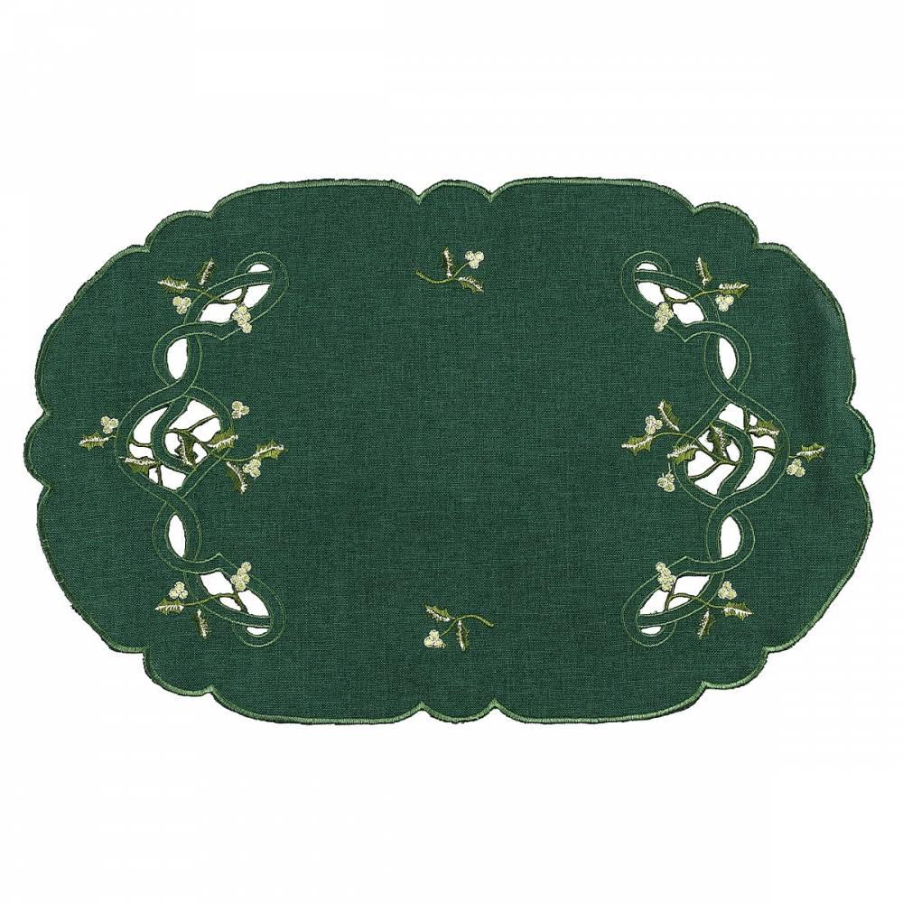 Forbyt Vianočný obrus imelo zelená, 30 x 45 cm