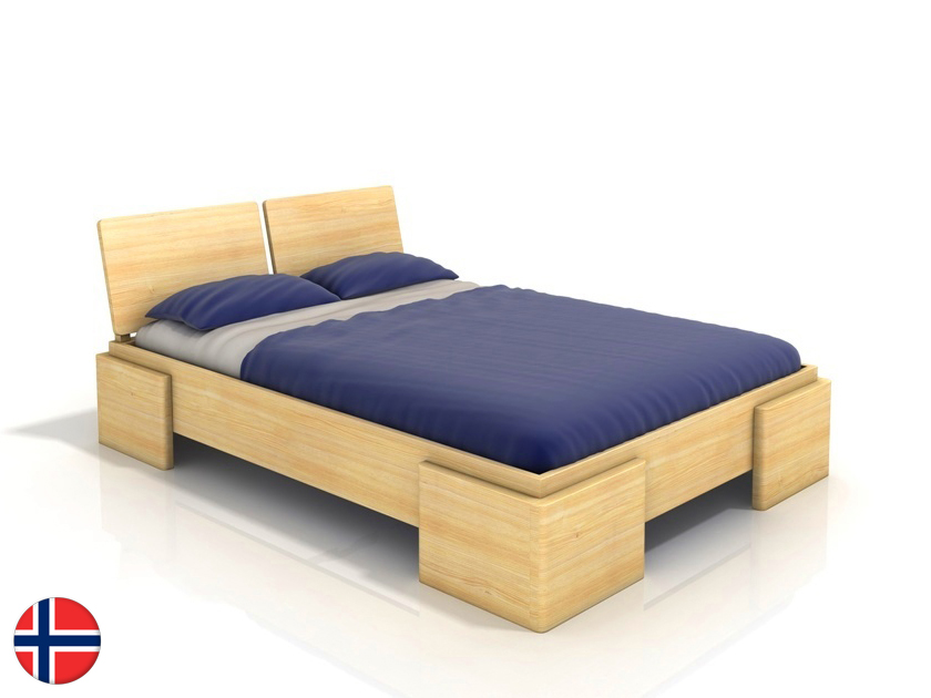 Manželská posteľ 180 cm Naturlig Jordbaer High (borovica) (s roštom)