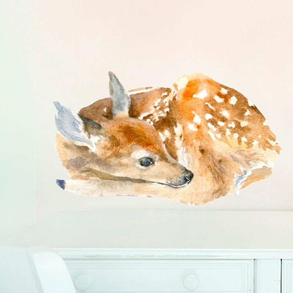 Samolepka na viac použití Sleeping Deer, 40x24 cm
