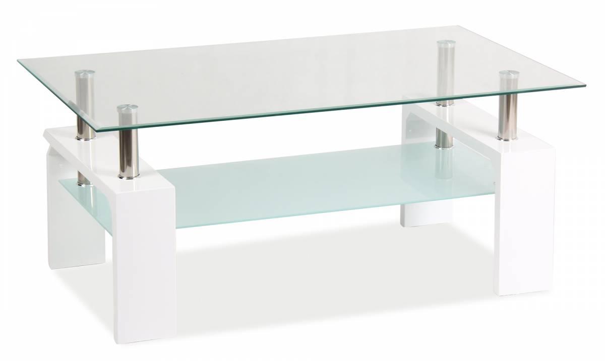 Konferenčný stolík Lisa Basic (lesk vysoký biely)