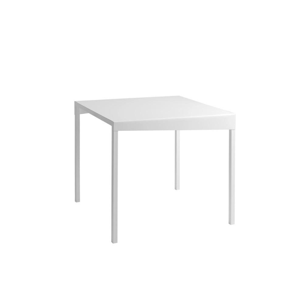 Biely kovový jedálenský stôl Custom Form Obroos, 80 x 80 cm