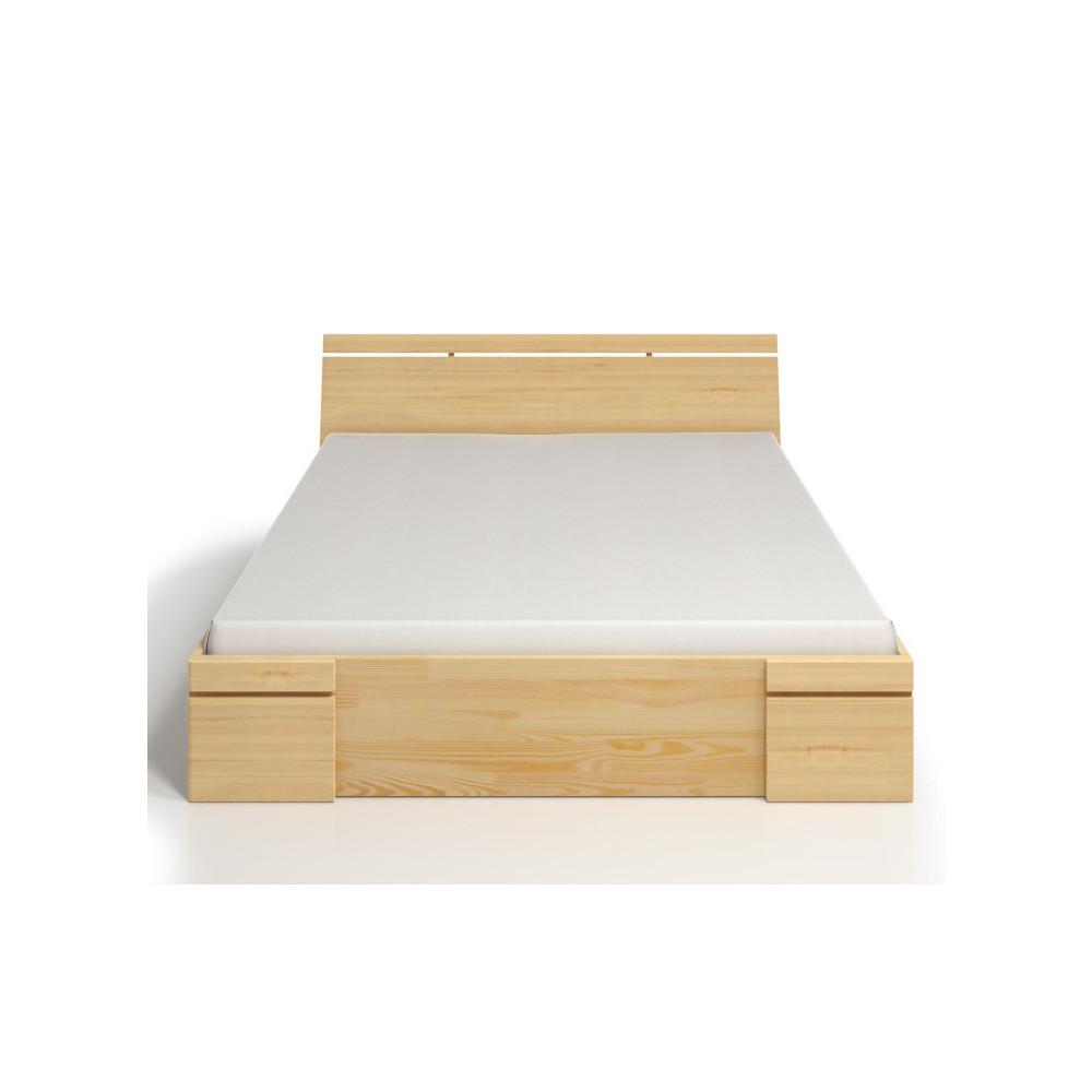 Dvojlôžková posteľ z borovicového dreva so zásuvkou SKANDICA Sparta Maxi, 140x200cm