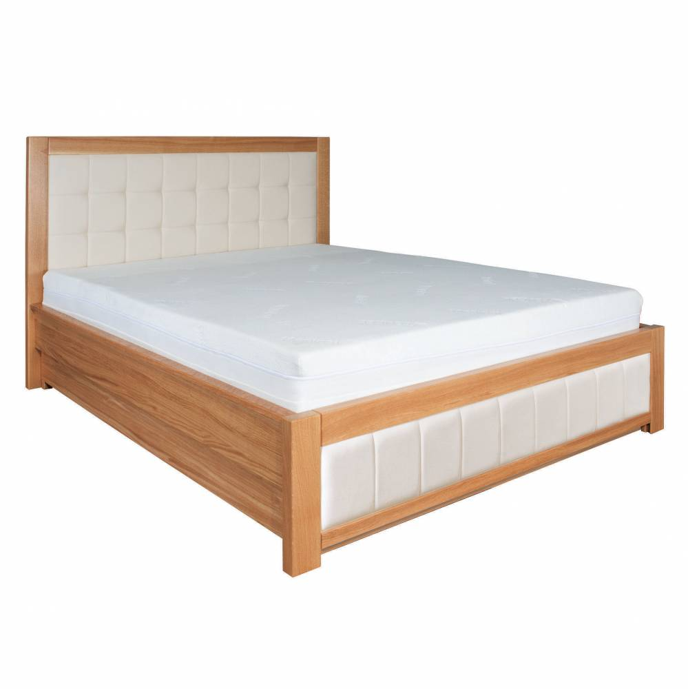 Manželská posteľ 160 cm LK 214 (dub) (masív)