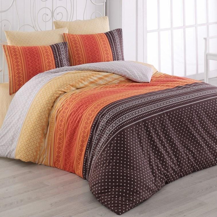 Bedtex obliečky bavlna Summer Oranžové, 140 x 200 cm, 70 x 90 cm