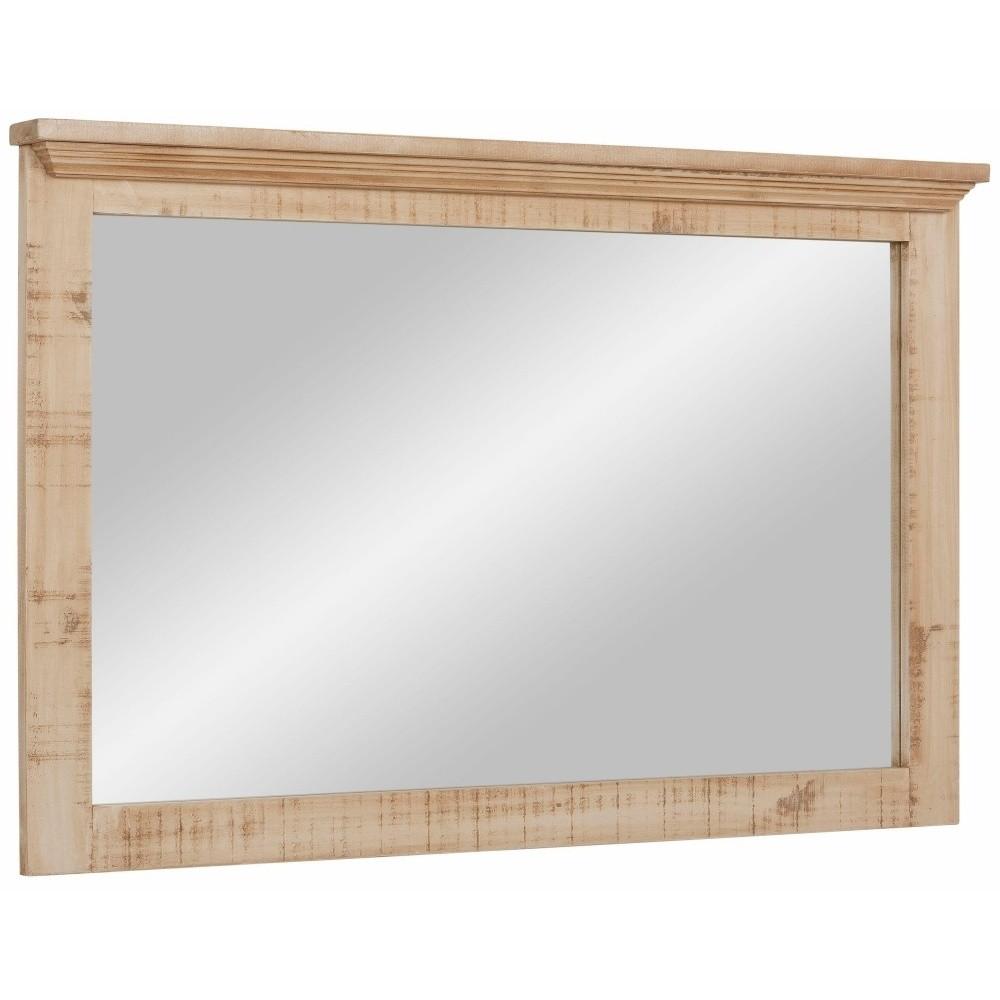 Krémové zrkadlo z masívneho borovicového dreva Støraa Marilyn