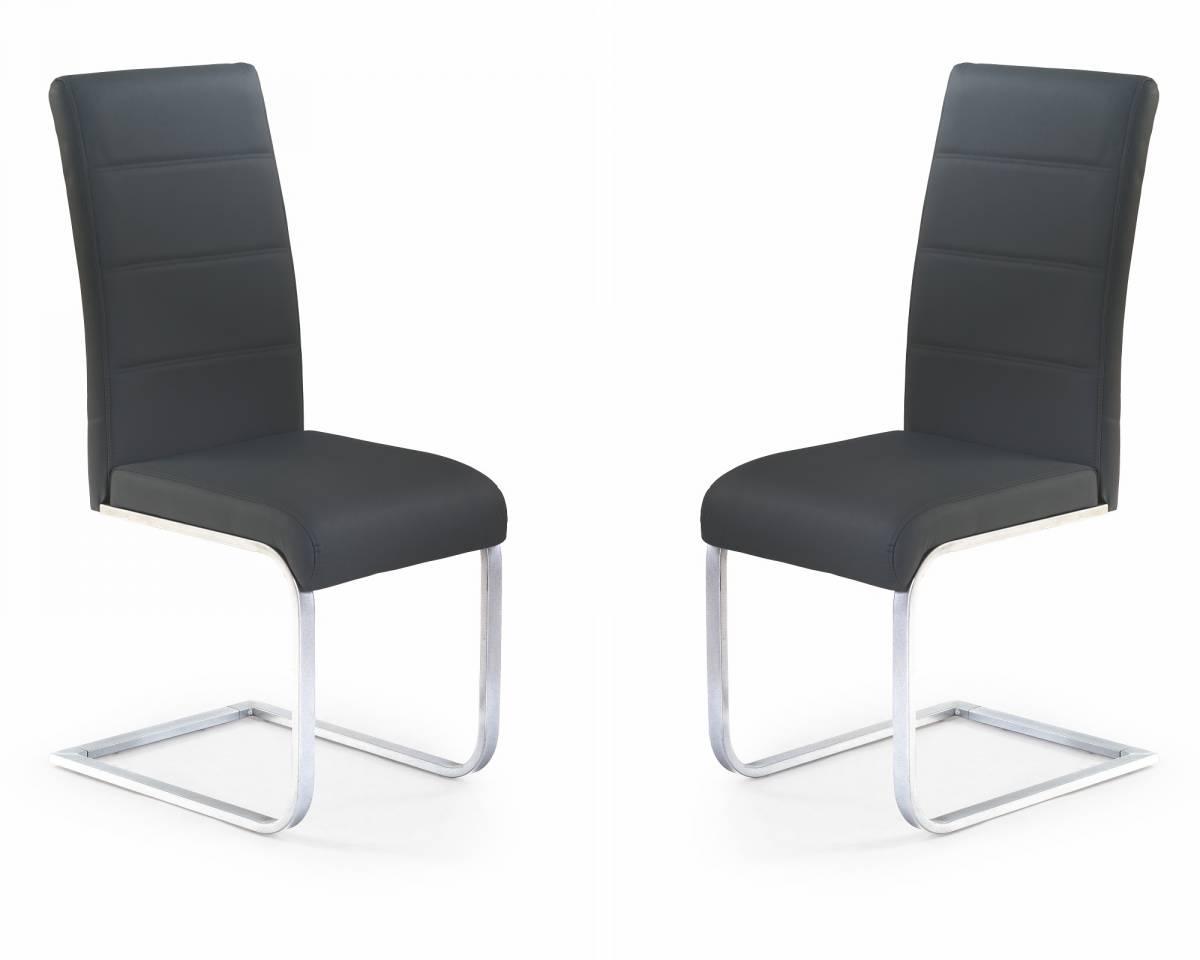 Set 2ks. jedálenských stoličiek K85 čierna *výpredaj
