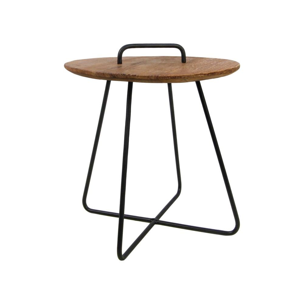 Príručný stolík z teakového dreva HSM collection Madison