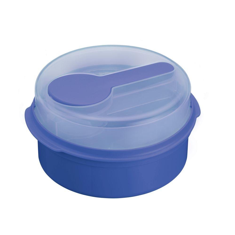 Modrý desiatový box Kitchen Craft Coolmovers Round