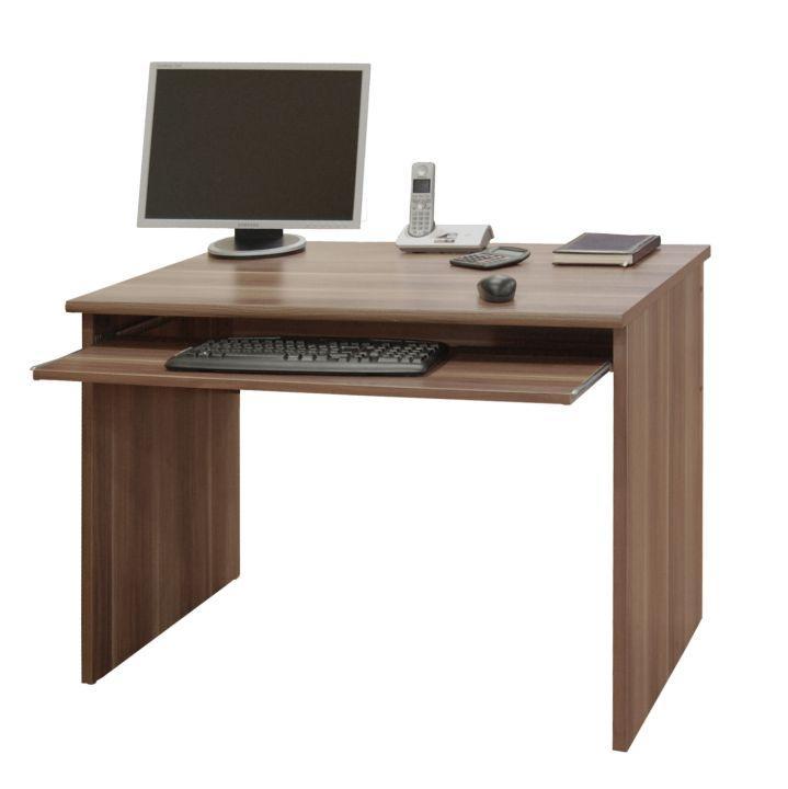 TEMPO KONDELA Písací stôl, slivka, JOHAN NEW 02