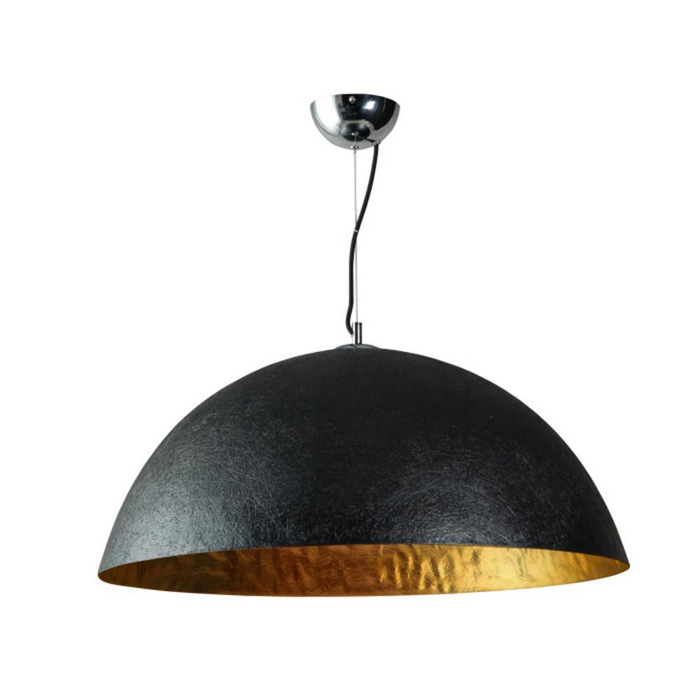 Čierno-zlaté stropné svietidlo ETH Mezzo Tondo, ⌀70cm