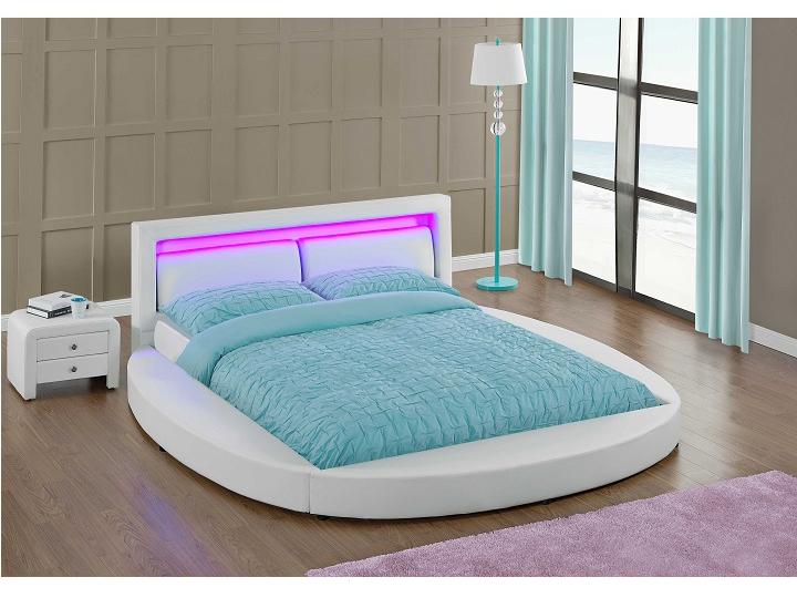 Manželská posteľ 180 cm Bless (s roštom a osvetlením)