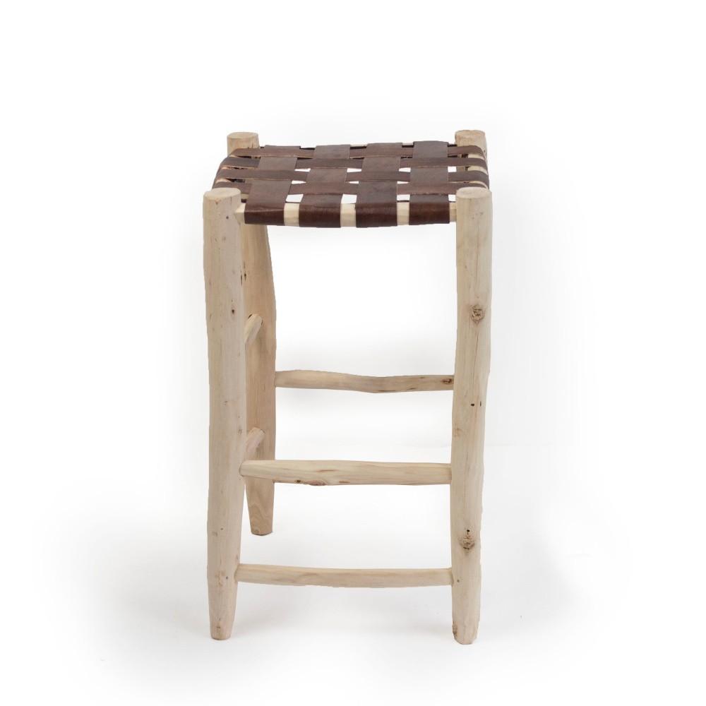 Taburetka z borovicového dreva Surdic Alto Trenzado Piel