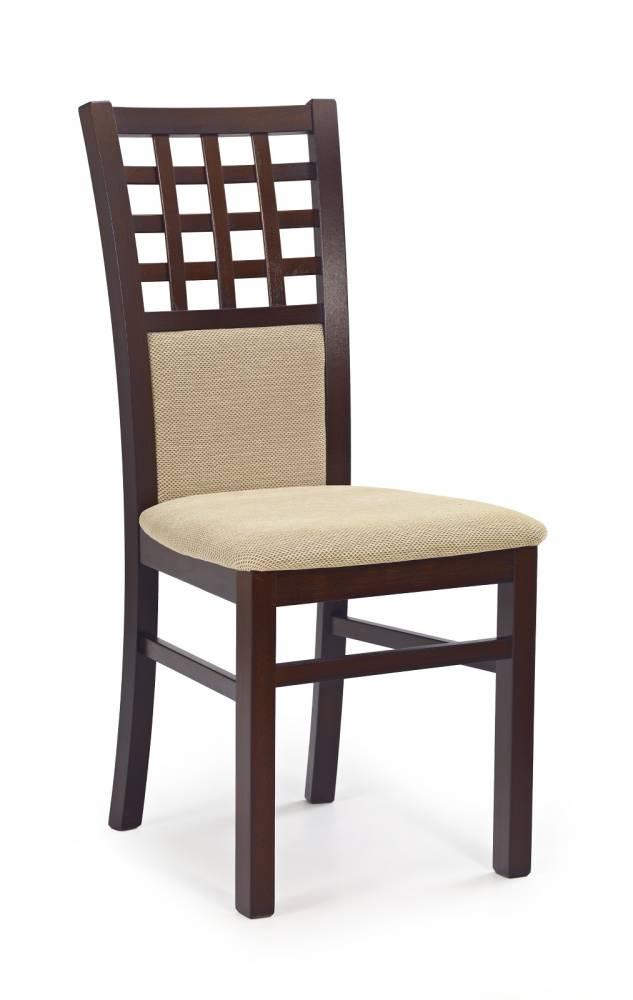 Jedálenská stolička Gerard 3 Orech tmavý + béžová