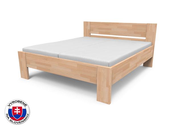 Manželská posteľ 220x140 cm Nikoleta plné čelo (masív)