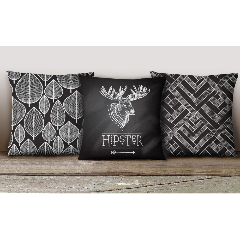 Sada 3 obliečok na vankúše Decorative Cushion Set Duro