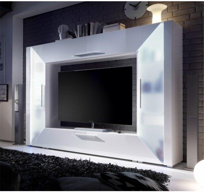 TEMPO KONDELA EDGE obývacia stena - biely lesk
