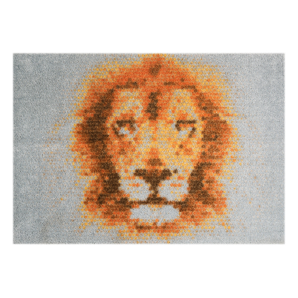 Sivá rohožka Mint Rugs  StateMat King Of Animals 50x75cm