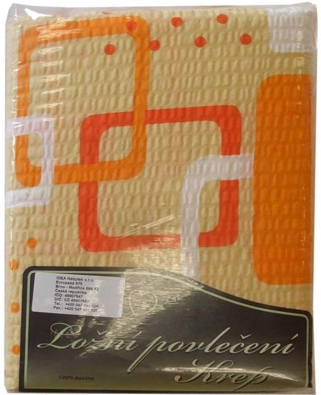 Posteľne pradlo oranžová geometria