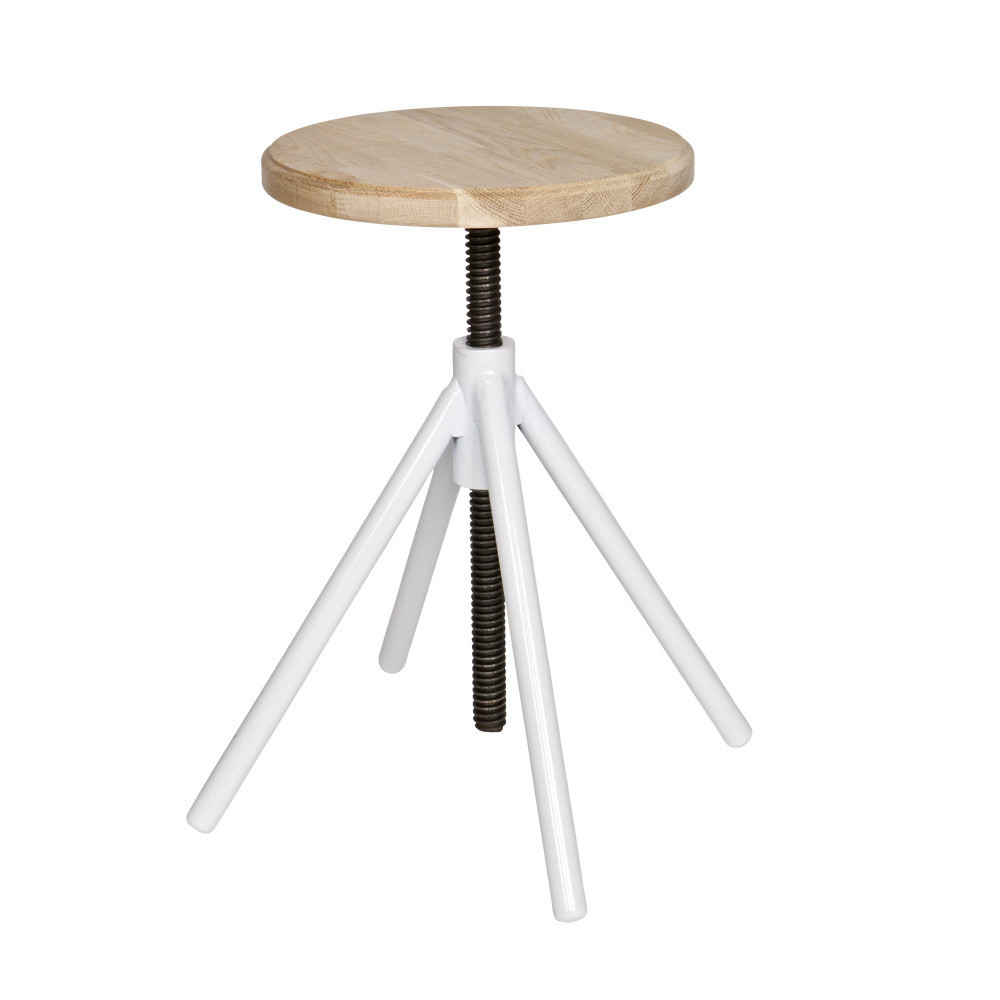 Drevená stolička s bielymi nohami De Eekhoorn Lily
