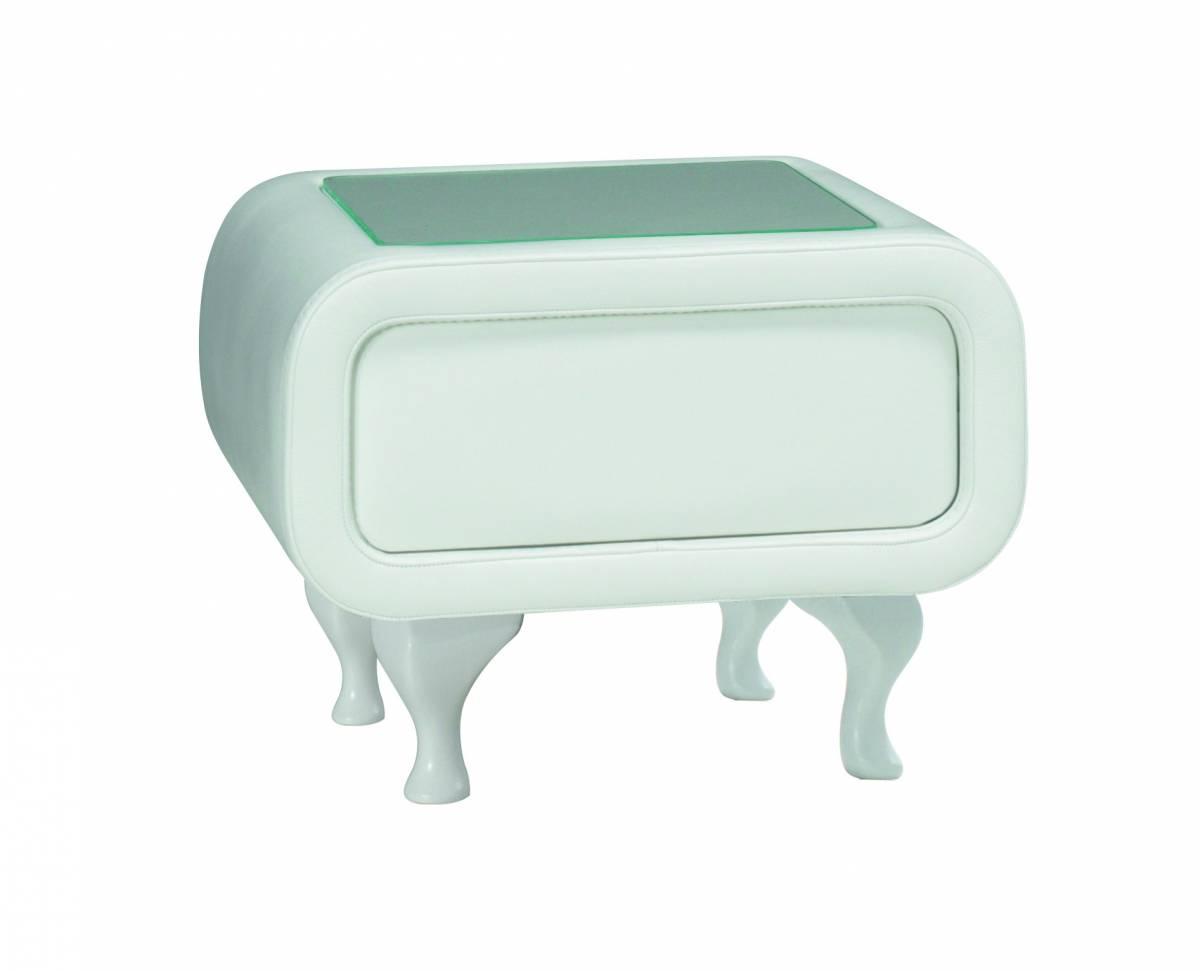 PreSpánok Pearl - čalúnený nočný stolík 40x53x51 cm cm