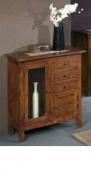 Furniture nábytok  Masívna komoda / príborník s 2 skrinkami a 3 zásuvkami  z Palisanderu  Uma  80x40x90 cm