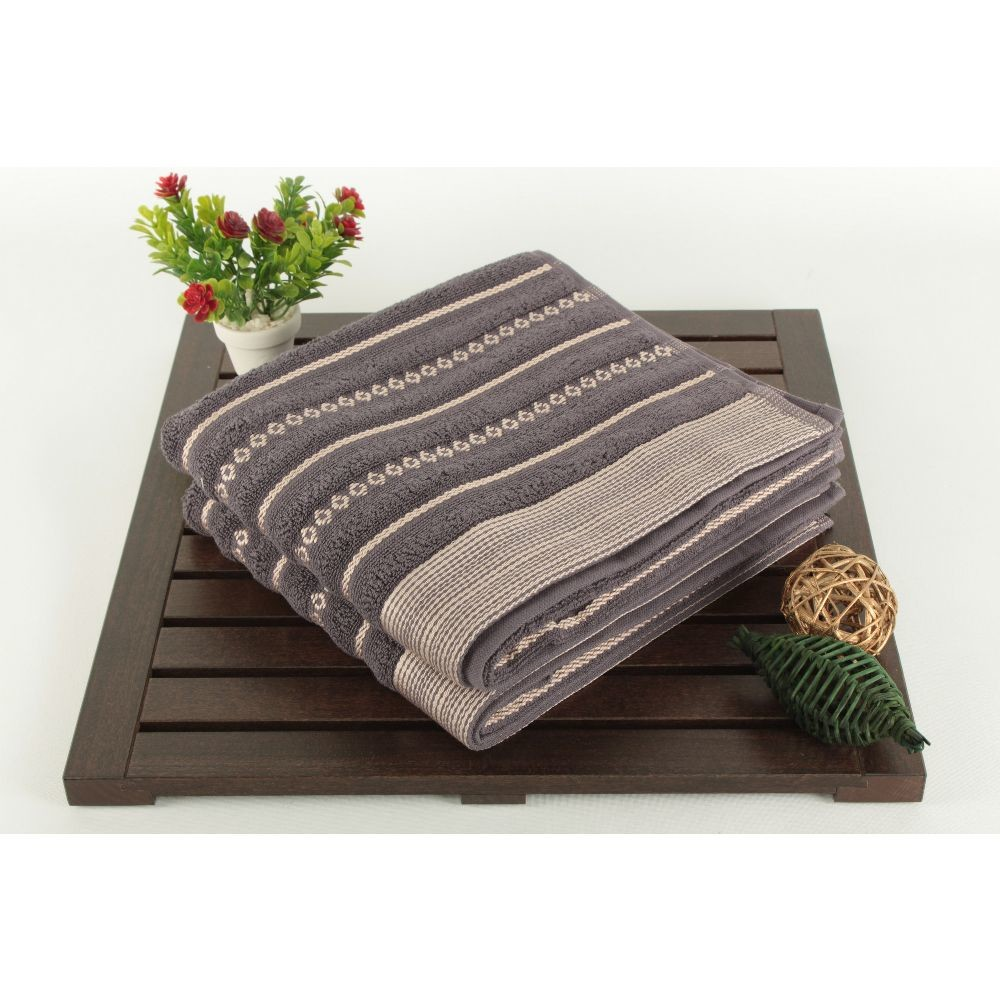 Sada 2 uterákov Bombeli Black, 50x90 cm