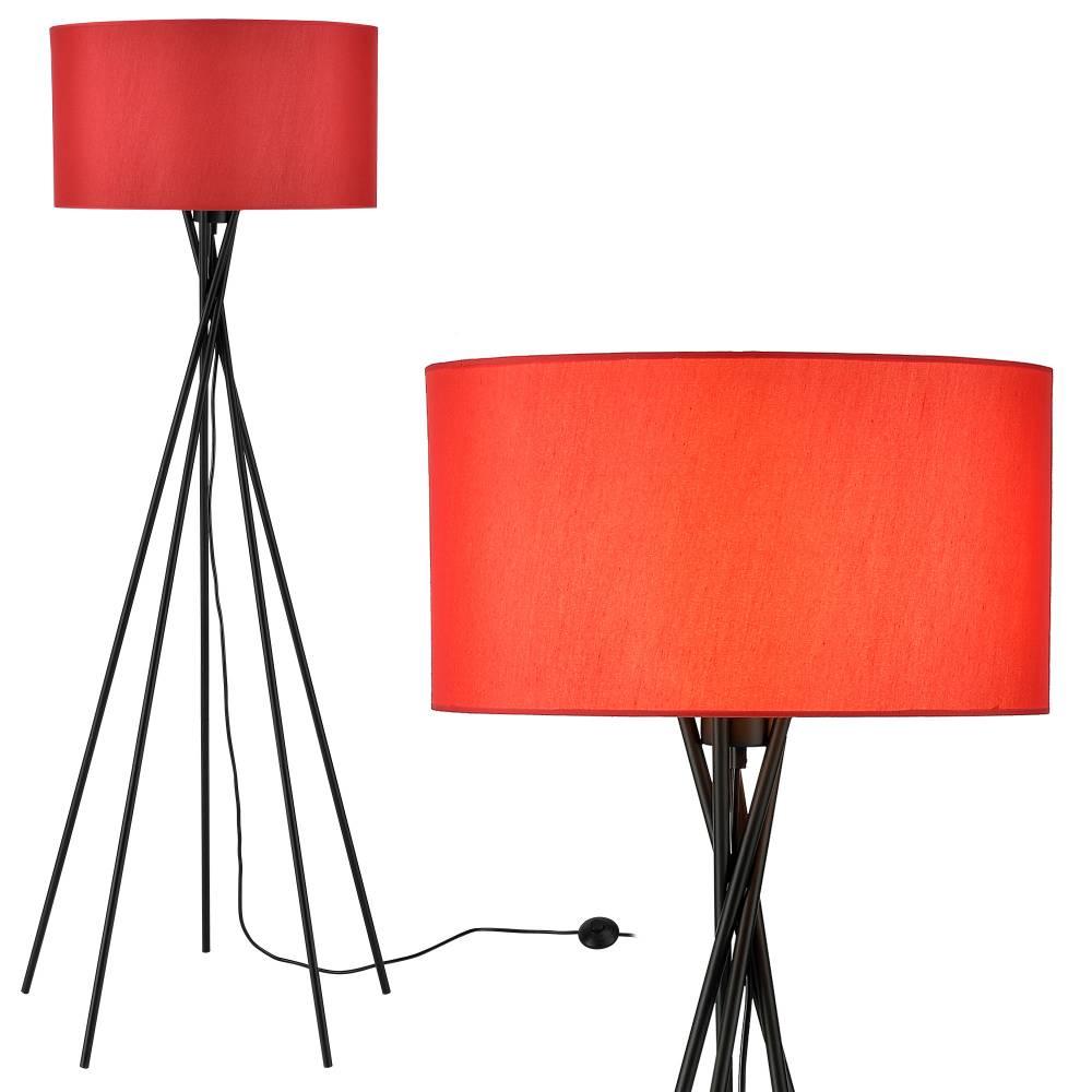 [lux.pro]® Elegantná stojaca lampa - Red Mikado 1 x E 27 - 60W - červená / čierna