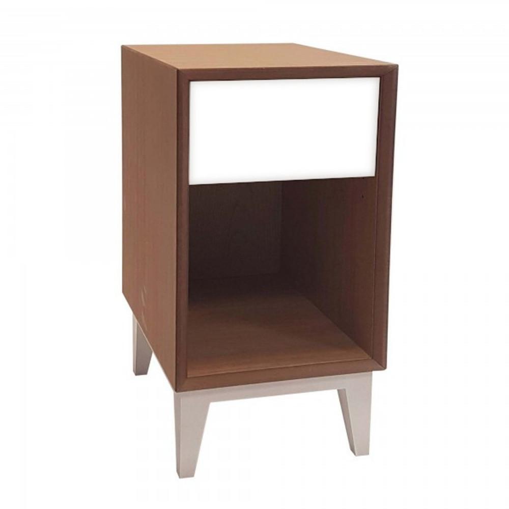 Veľký nočný stolík s bielou zásuvkou Ragaba PIX