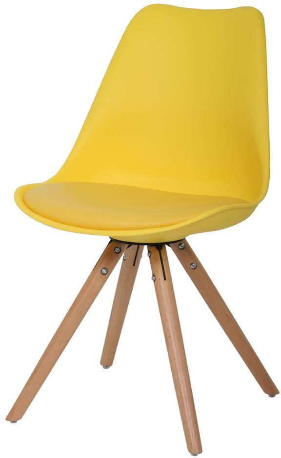 Stolička WOOD - žltá